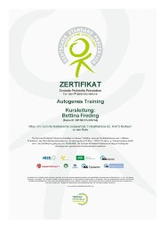 Zertifikat Autogenes Training